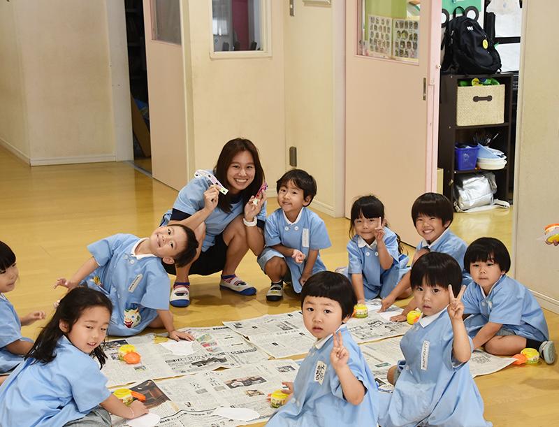 のびのびと保育している幼稚園